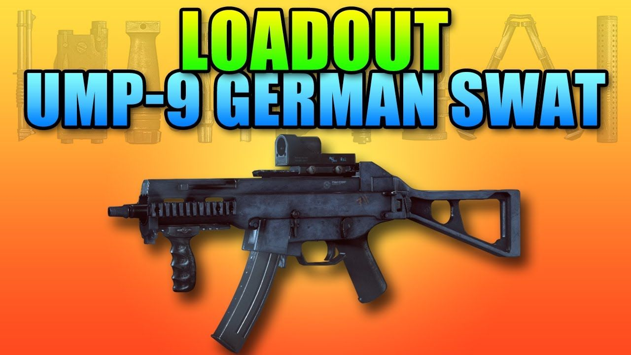 Battlefield 4 Loadout - UMP-9 German S W A T    Battlefield