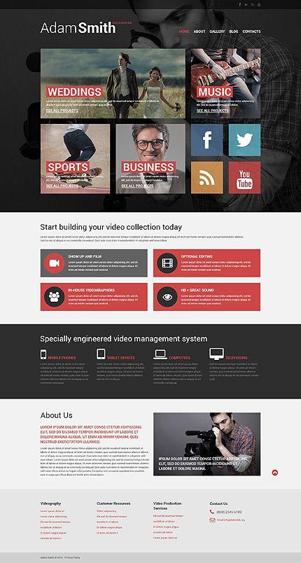 Template 51055 Videographer Responsive Website Template Design