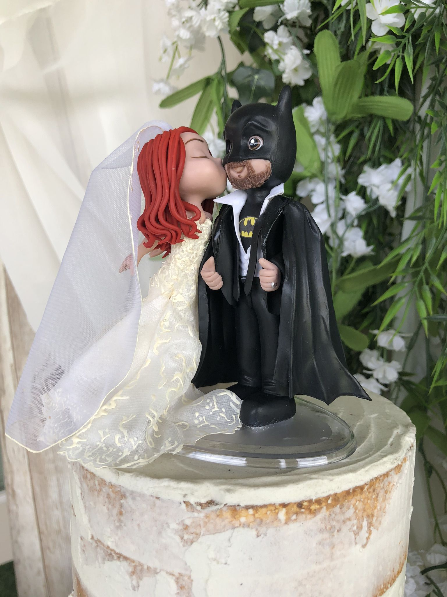 Custom Handcrafted Wedding Cake Topper Batman Wedding Batman Wedding Cake Topper Wedding Cake Topper Figurines
