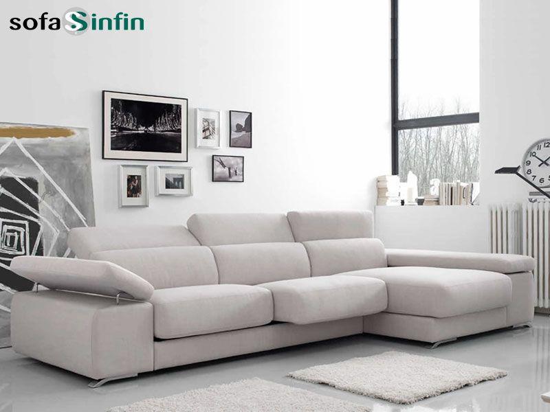Sofassinfin.es Sofá 3 y 2 plazas con chaise-longue modelo Adagio ...