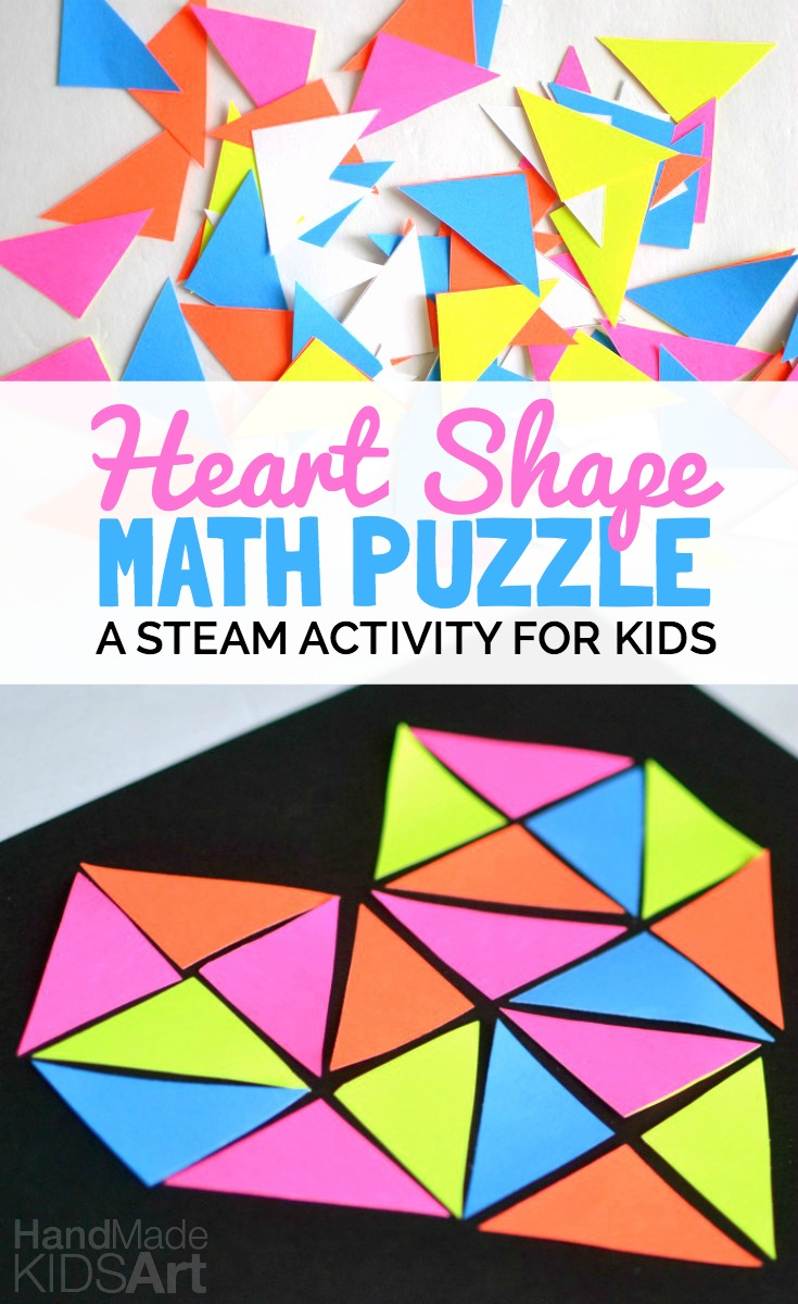 A Heart Shape Math Puzzle in 2020 Maths puzzles