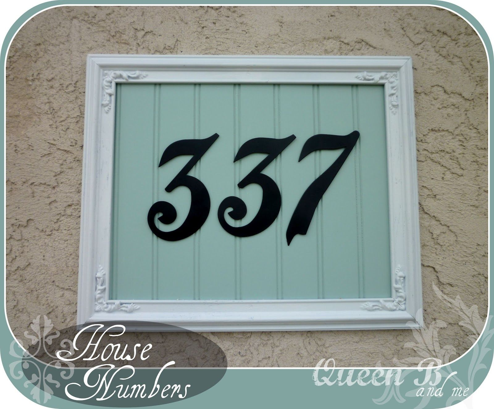 Add Some Visual interest to your House Numbers! EASY DIY!!! #address #curbappeal #housenumbers