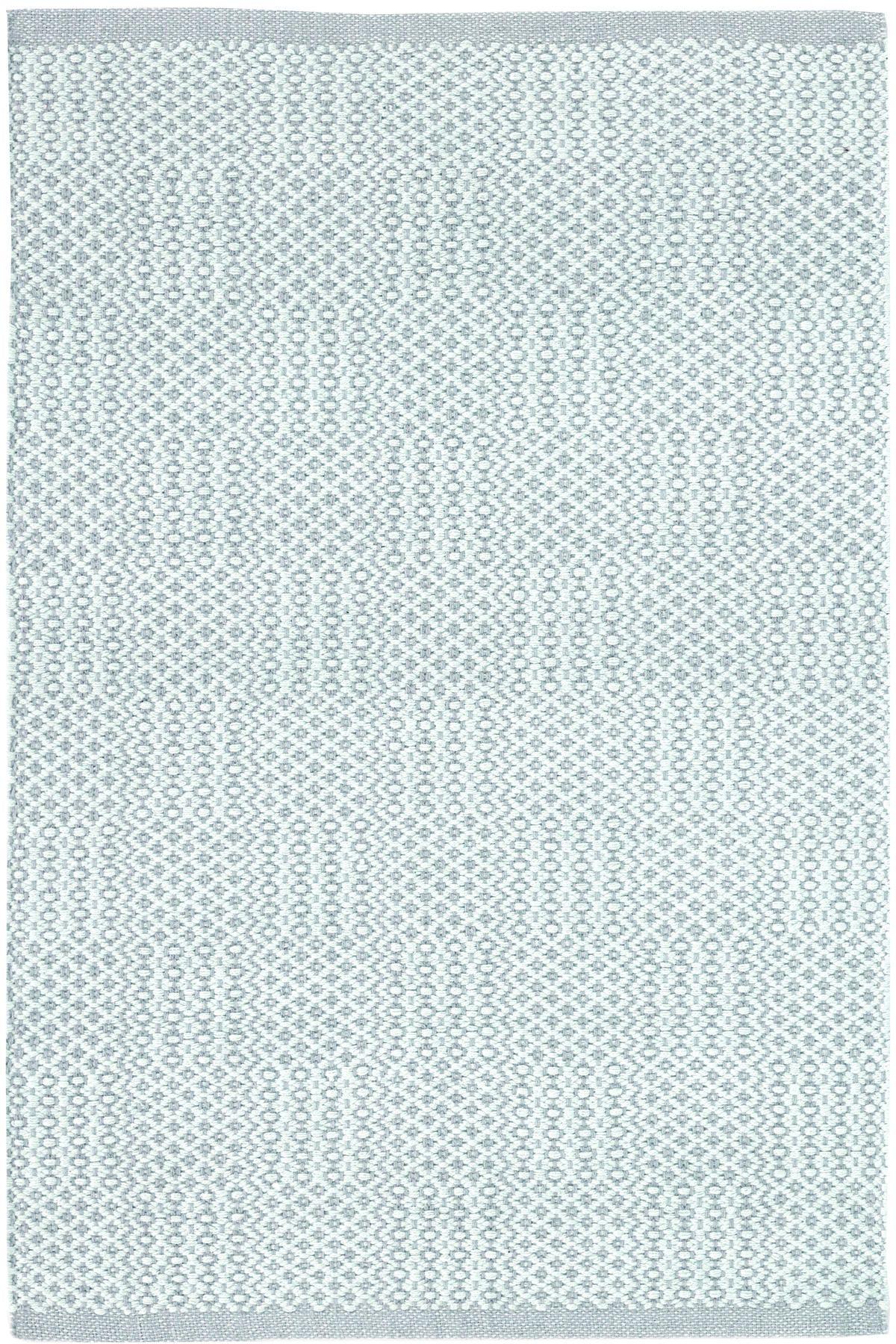 Dash Albert Bonnie Blue Woven Cotton Rug Interior Decorating