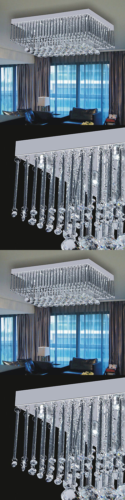 Chandeliers and Ceiling Fixtures 117503: Modern Luxury Crystal Led Lighting Ceiling Light Pendant Drop Lamp Chandeliers -> BUY IT NOW ONLY: $97.84 on eBay!