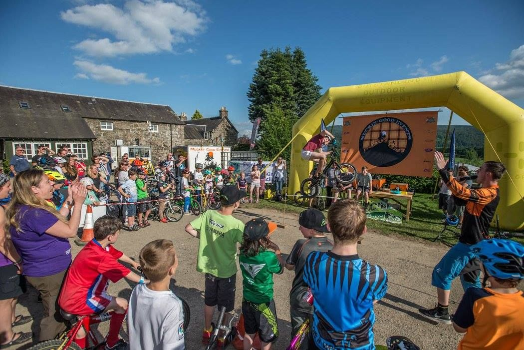 #BunnyHop competiton Muckmedden Cream O' the Croft. Featuring a cracking podium backdrop, made by us - obviously :D