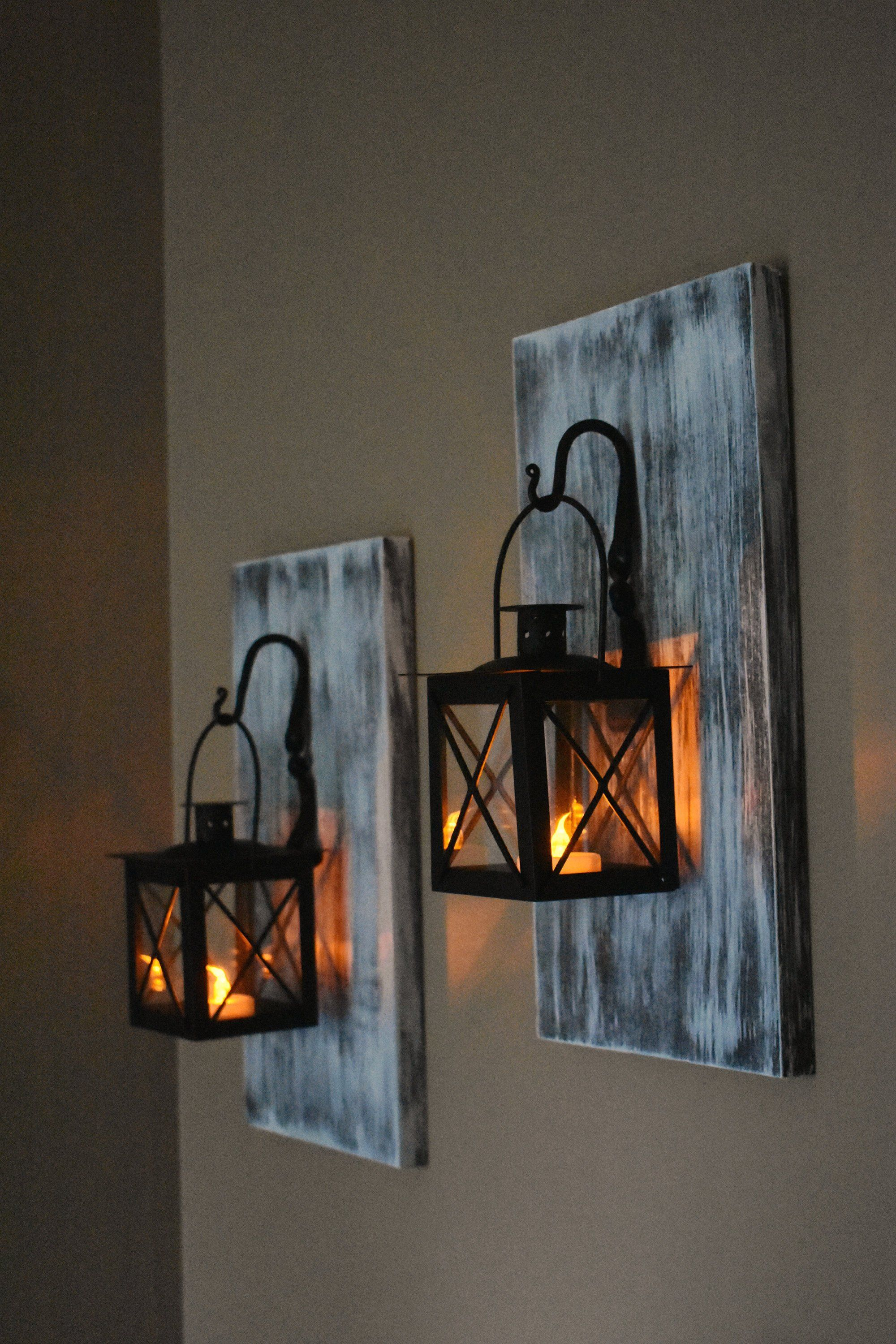 Lantern Sconces Set Of 2 Wall Sconces Farmhouse Home Decor Rustic Wall Decor Wall Sconces Candle Scon Wall Sconces Rustic Wall Decor Candle Sconces