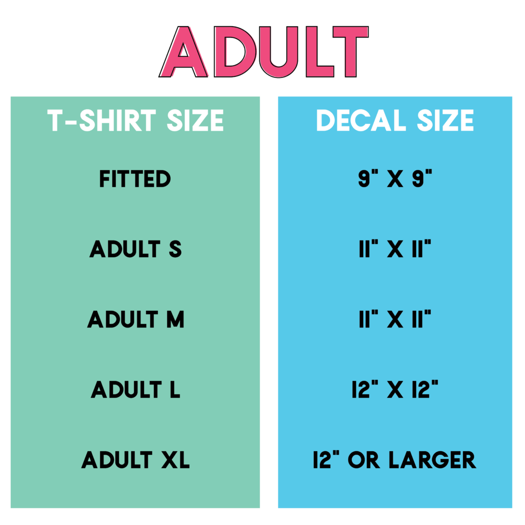 Beginner's Tutorial: Decal Size Tips for T-Shirts, Totes and Onesies
