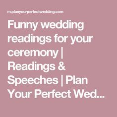 Funny Wedding Readings For Your Ceremony Sches Plan Perfect