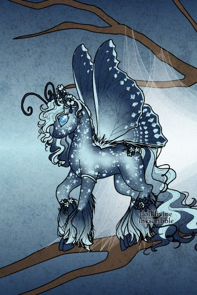 Animals Divine Tarot: Blue MLP By LisaRae ~ Flutter Bug Pony Maker