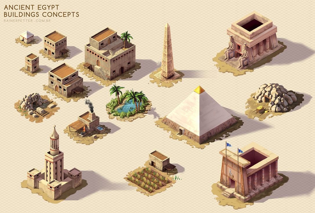 Ancient Egypt   Buildings concepts by rainerpetterart on DeviantArtAncient Egypt   Buildings concepts by rainerpetterart on  . Ancient Egyptian Architecture Timeline. Home Design Ideas