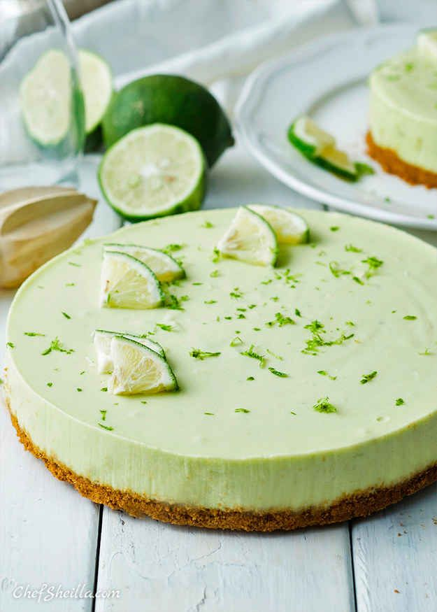 No-Bake Avocado Lime Cheesecake and 14 other avacado dessert recipes