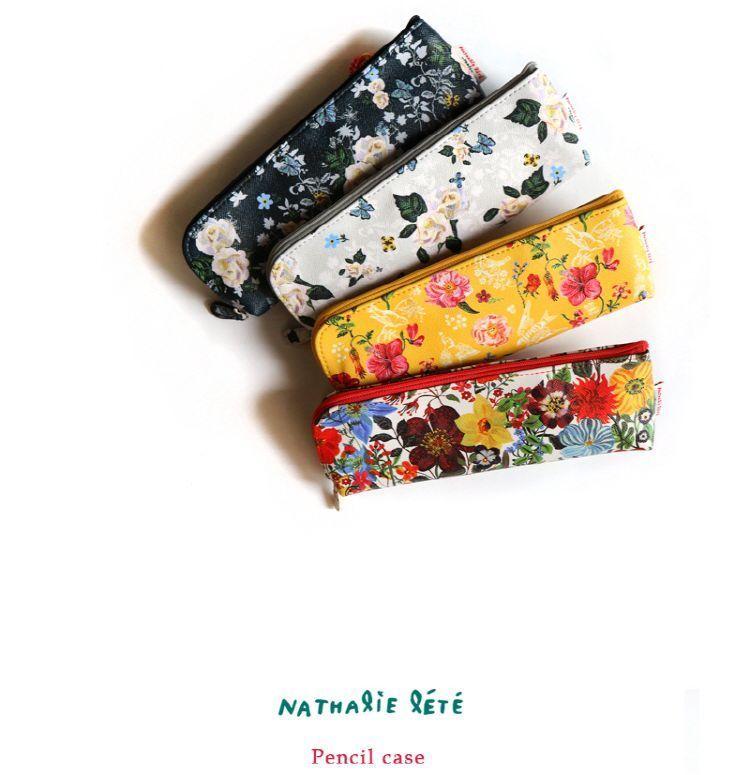 New Pencil Pen Pouch Case Pocket Holder Nathalie Lete Paris School Supplies #Design7321