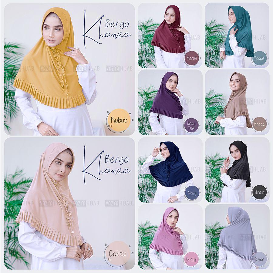 Bergo Khanza Hijab Kerudung Cocok