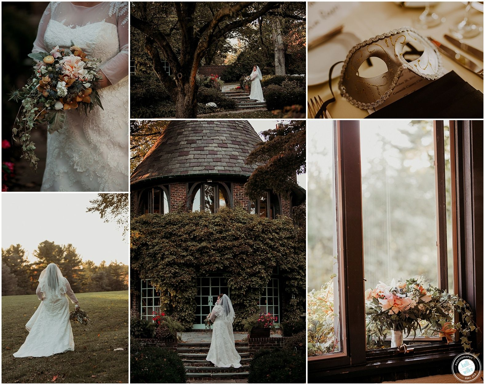 Greenville Country Club Halloween Inspired Wedding Masquerade