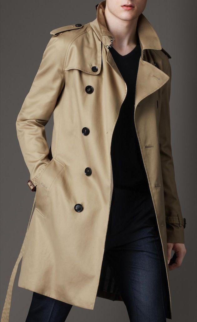 Burberry-Mid-length-cotton-blend-trench-coat | m y - s t y l e ...