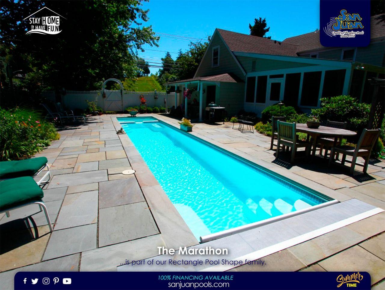 The Marathon San Juan Pools Lap Swimming Pool Shapes Fiberglass Swimming Pools