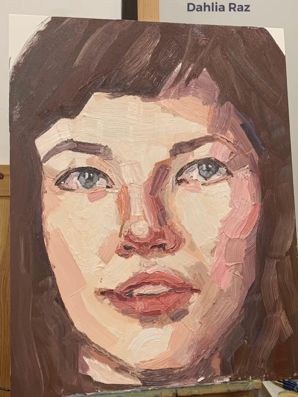 By Dahlia Raz  Painted at the Elly Smallwood workshop in Madrid  #oilpainting #ellysmallwood #artist