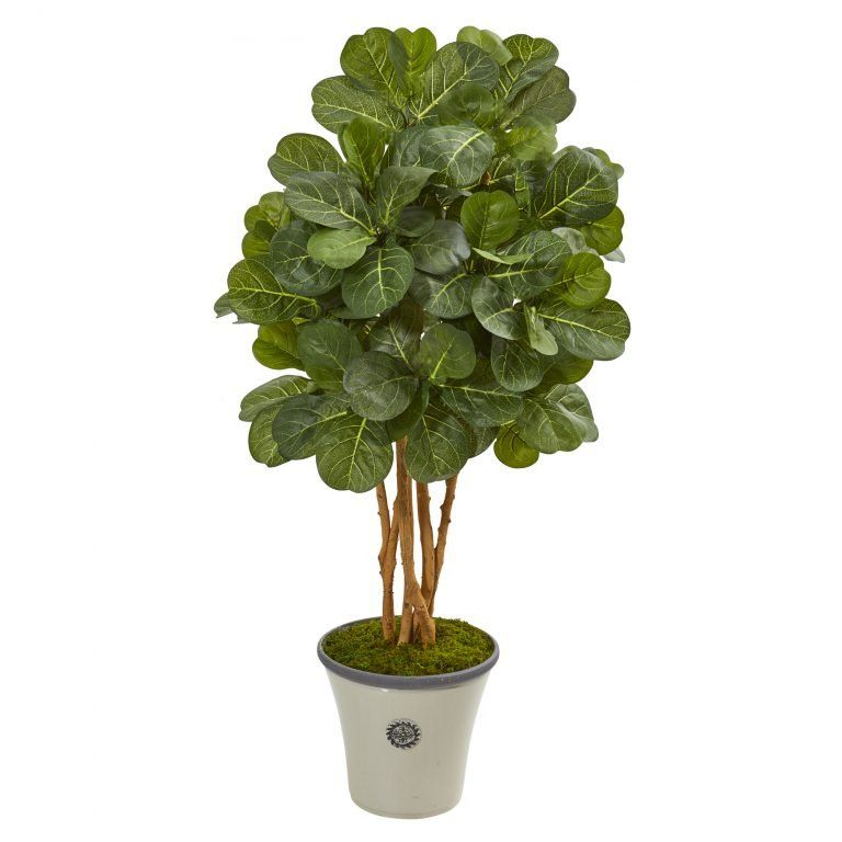 57 H Faux Fiddle Leaf Fig Tree In Decorative Planter Faux Trees N Shrubs Decorative Planters Fiddle Leaf Fig Tree Fiddle Leaf Fig