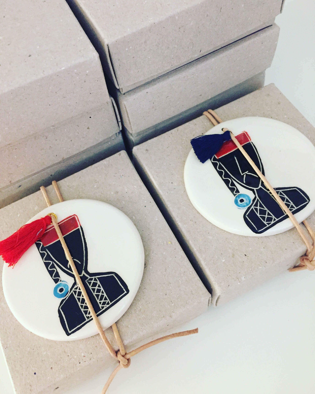 Greek tsolias ceramic wedding favors by cottonprince.gr | EKart ...