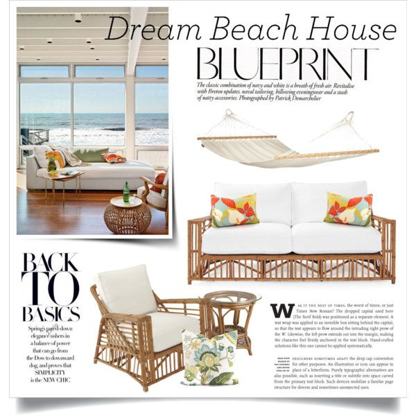 Dream Beach House by boxthoughts on Polyvore featuring interior