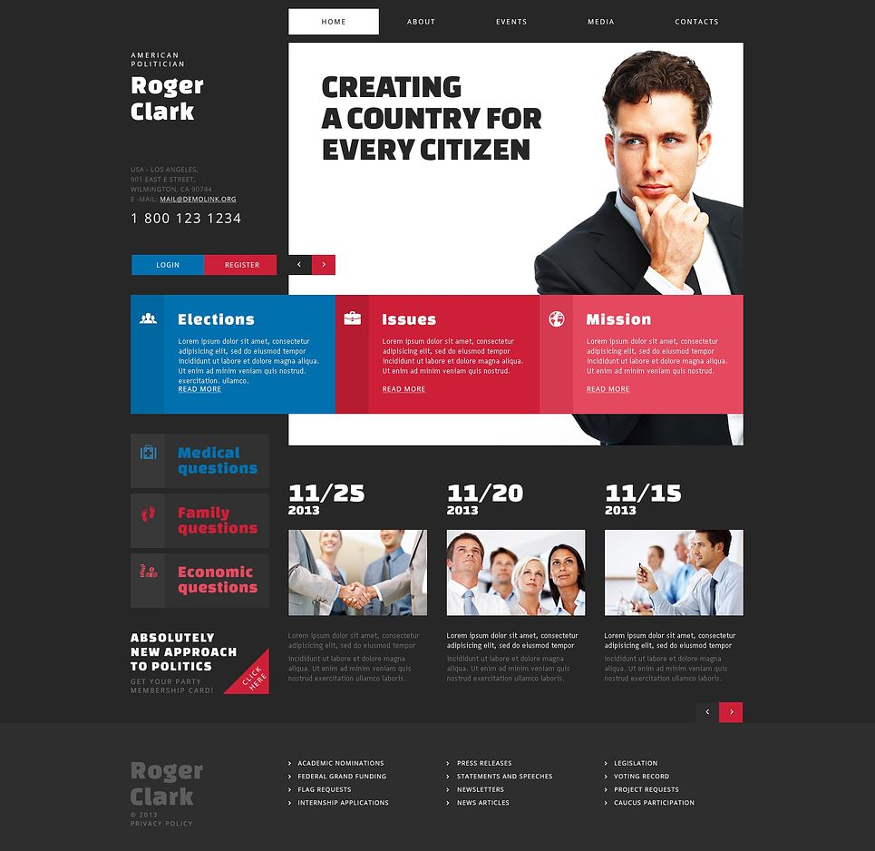 Politician Campaign Site #Joomla #template. #themes #business ...
