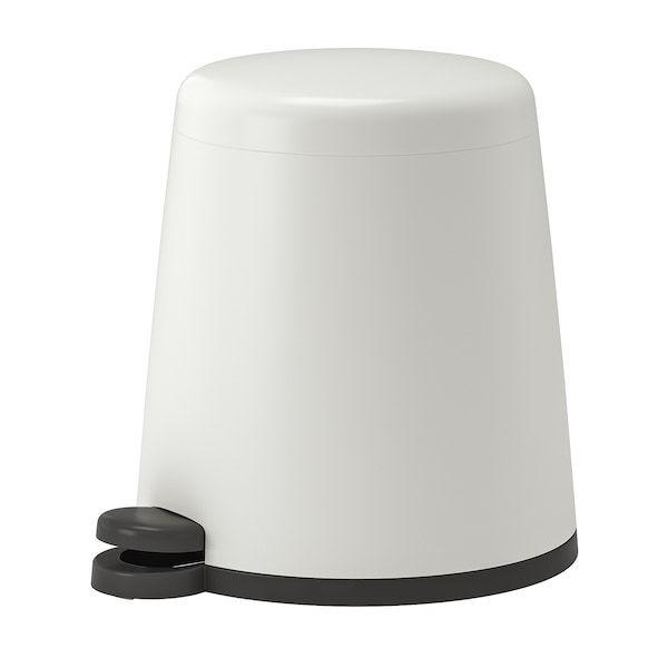 Snapp Pedal Bin White 1 Gallon 5 L Ikea Ikea Recycling Bins Tv Storage
