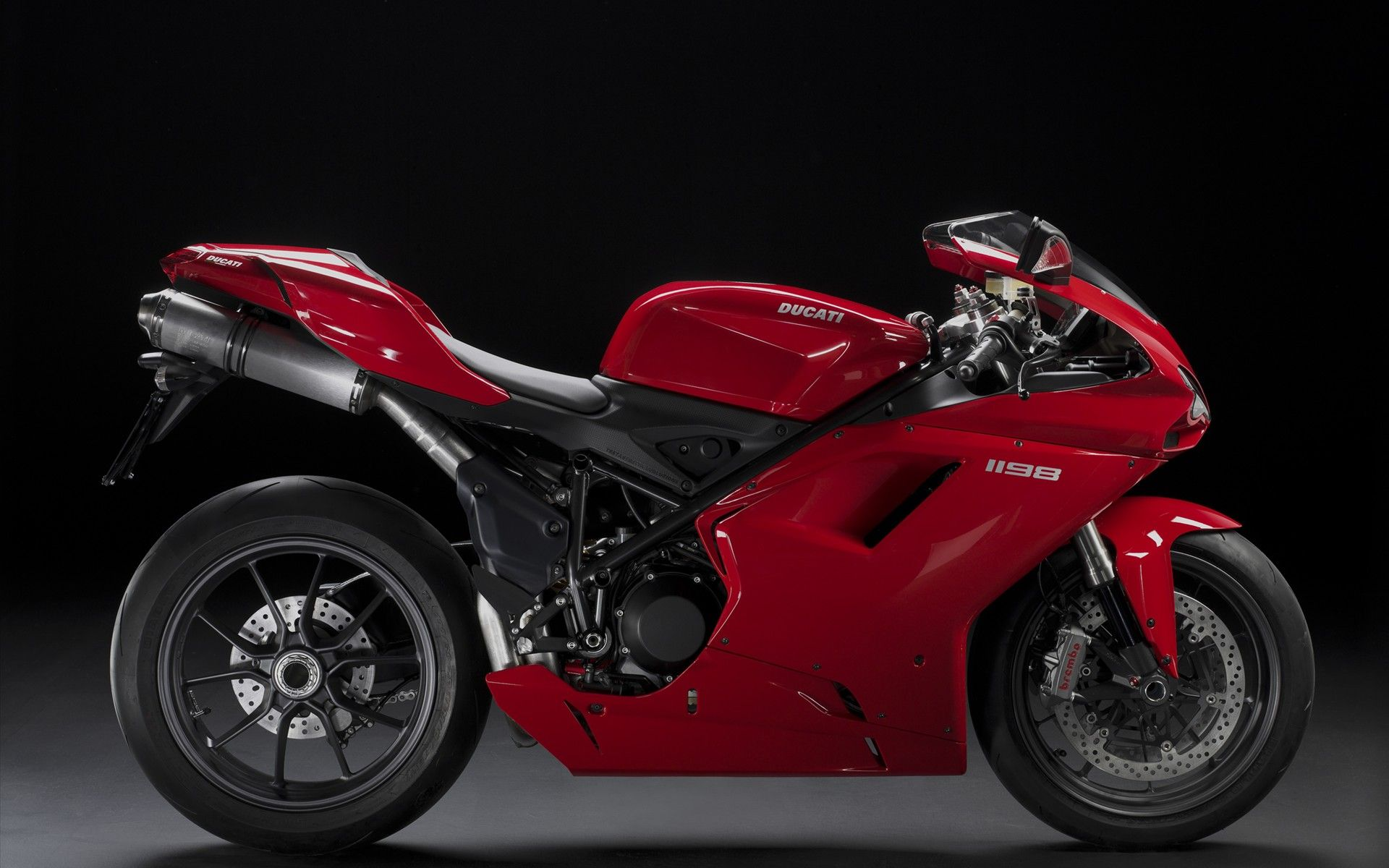 pure red ducati 1198 racing bike hd wallpaper | bikes wallpaper