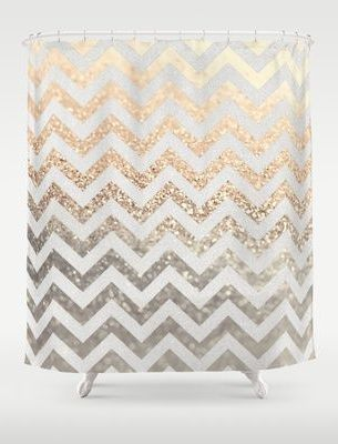 gold and silver glitter shower curtain