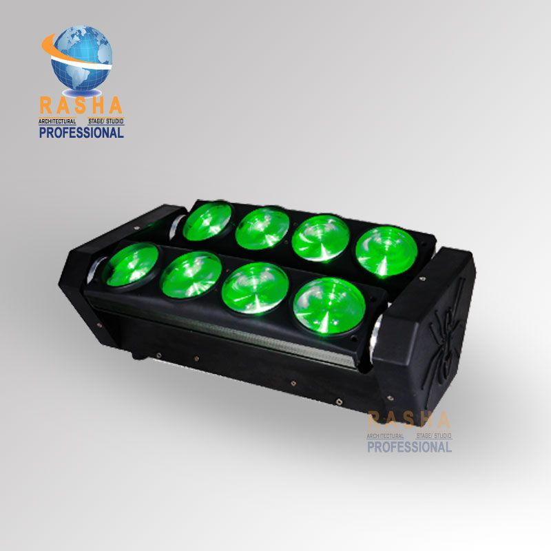 Hot Sale Rasha Rpas 8pcs 10w 4in1 Rgbw Led Moving Head Dual Bar 4in1 Led Spider Light For Ktv Dj Club Party Affi Spider Light Commercial Lighting Bar Lighting