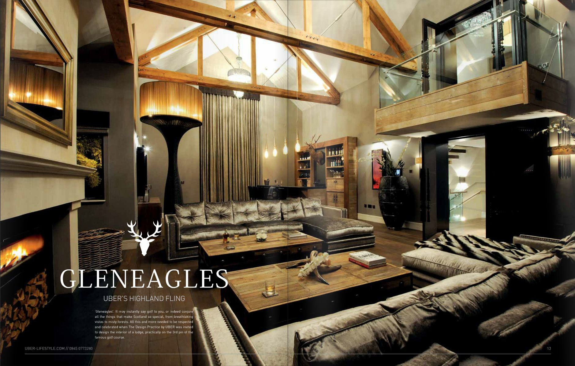 Story Of Our Contemporary Lodge In Gleneagles By The Design Practice By UBER