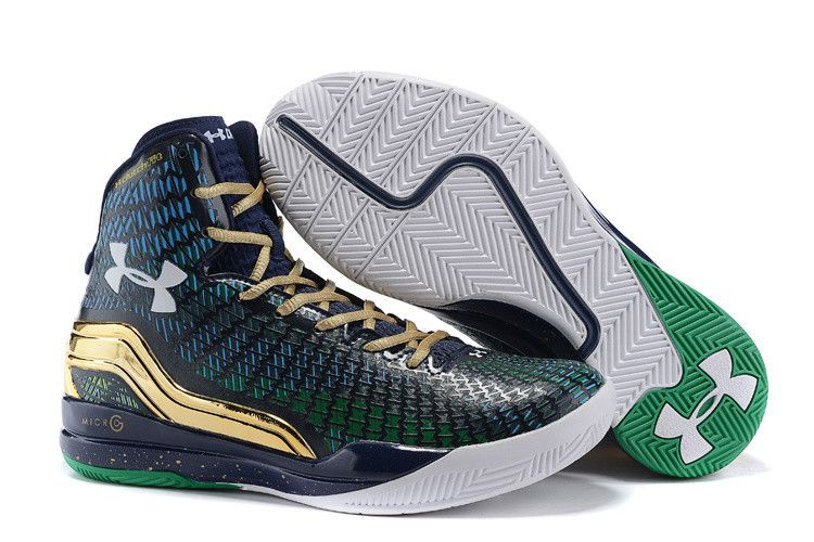 MENS UNDER ARMOUR STEPHEN CURRY CLUTCHFIT DRIVE GREEN AND BLUE BASKETBALL  SHOES
