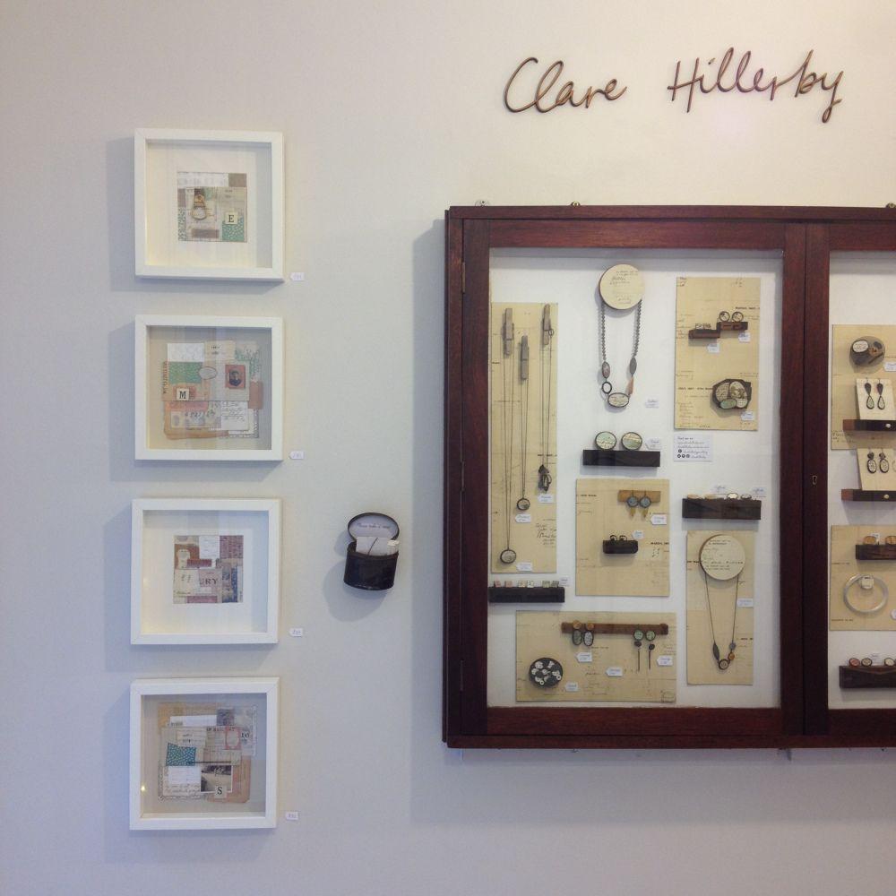 Contemporary handmade studio jewellery combining metalwork and ephemera featuring handwriting