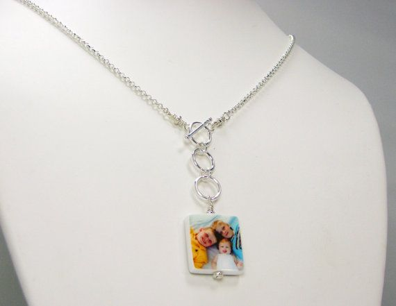 N3a  Lariat Style Photo Pendant Necklace with by DelaneyJewelry