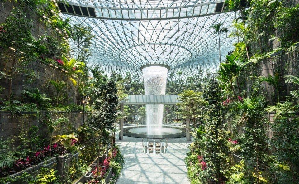 The Rain Vortex The Tallest Indoor Waterfall In The World