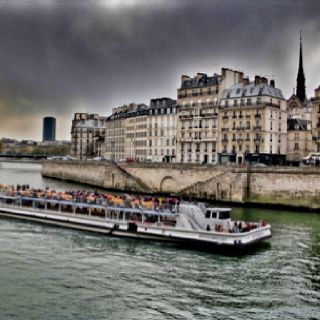 The Seine River. Paris in spring. April 2012.