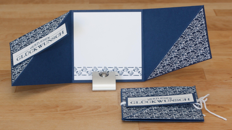 Triangle Tri-Fold Card - Dreifach gefaltete Dreieckskarte mit ...