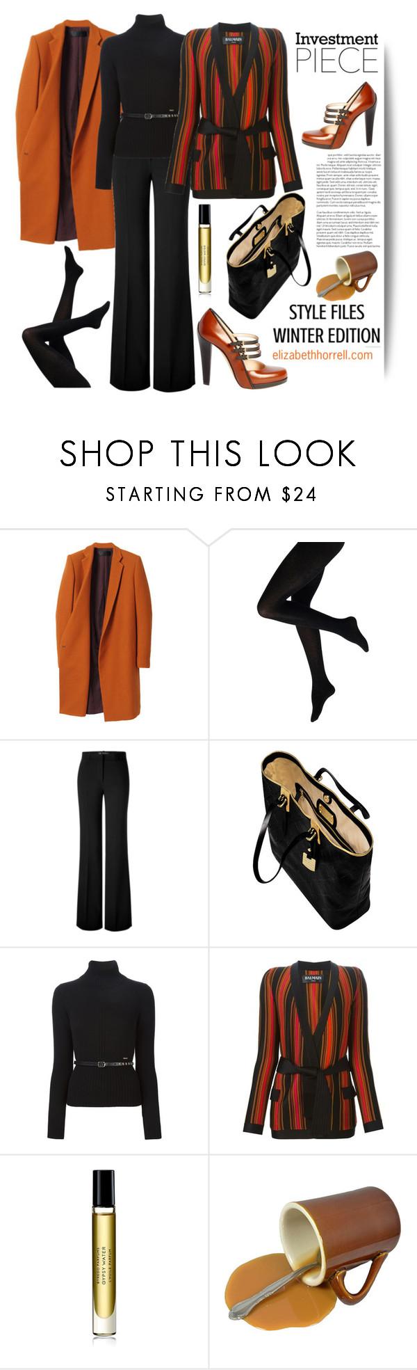 """LIZ"" by elizabethhorrell ❤ liked on Polyvore featuring Haider Ackermann, Versace, Longchamp, Dsquared2, Balmain, Byredo, women's clothing, women's fashion, women and female"