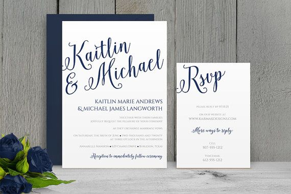 You Can Change the Color! DiY Wedding Invitation Template - Download - how to make invitations with microsoft word