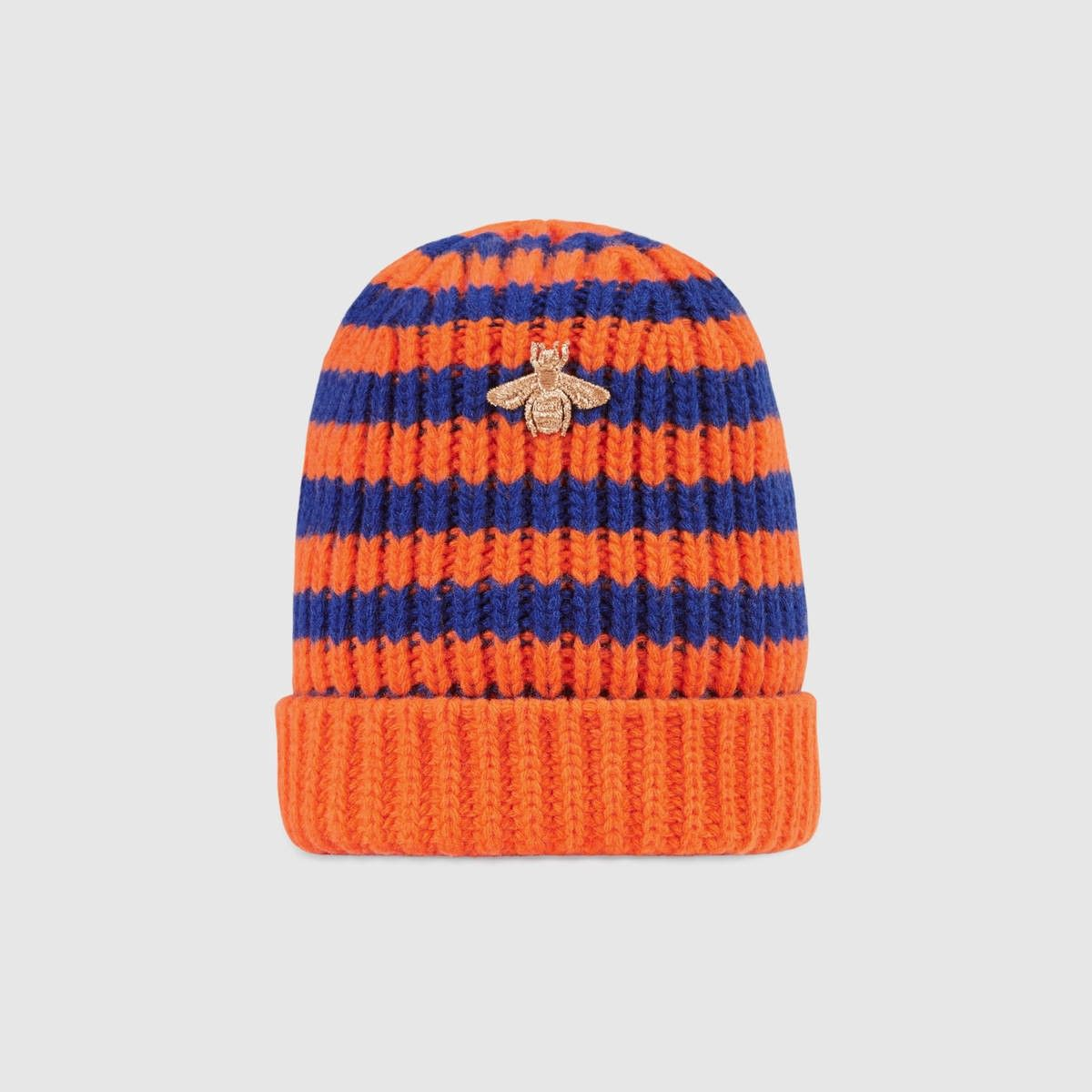 Wool beanie with multicolor stripes and tiger Gucci LtIaSB
