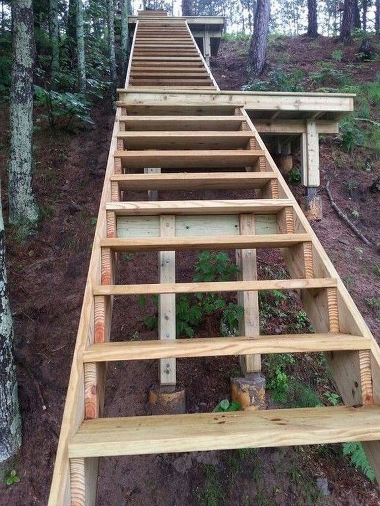 30 Exciting Wooden DIY Stairs Designs For Outdoor Page