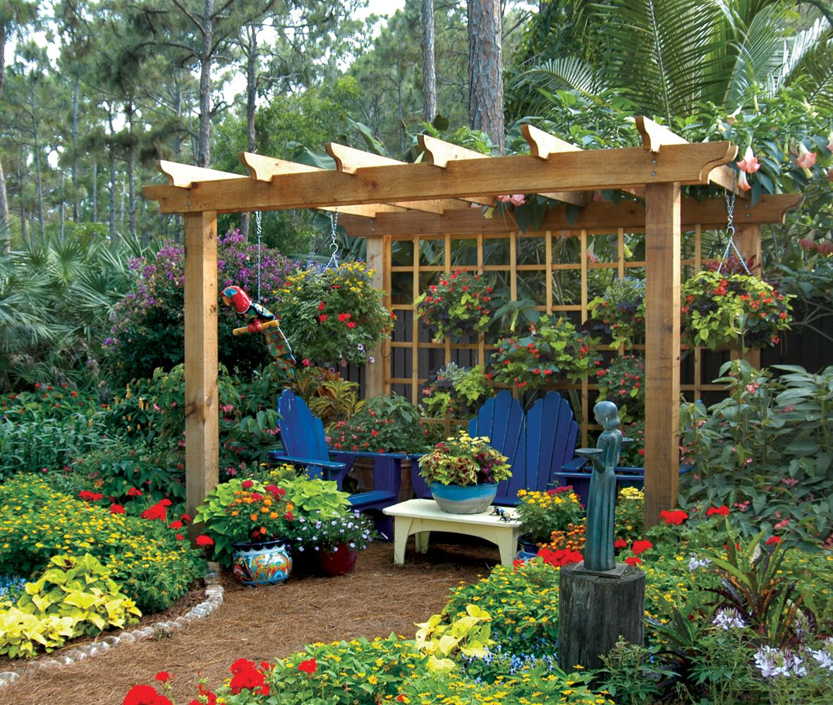 South Florida Tropical Landscape Ideas Planter Container: Outdoor Living Structures For The Palm Beach Landscape