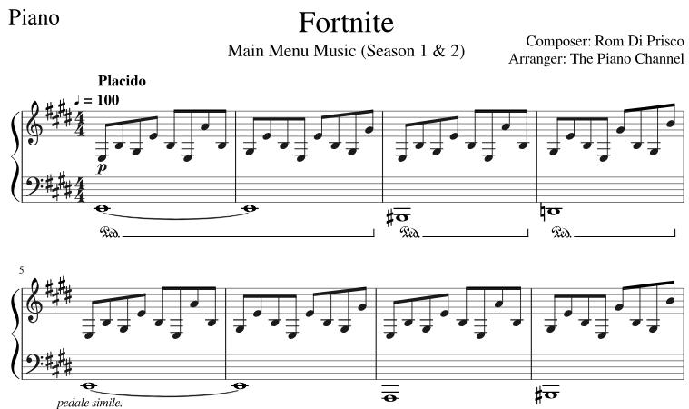 Fortnite Dances On Guitar Pin On Piano Sheet Music Klaviernoten Partituras Noty 악보