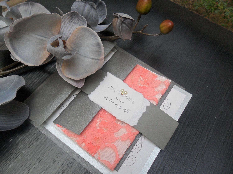die besten 25 korallen hochzeitseinladungen ideen auf pinterest korallenrote einladungen. Black Bedroom Furniture Sets. Home Design Ideas