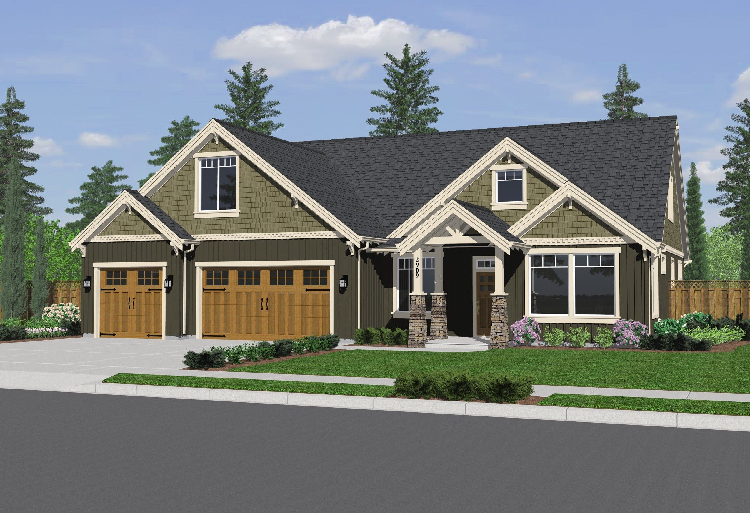 house 3 car garage plans - Small House Plans With 3 Car Garage