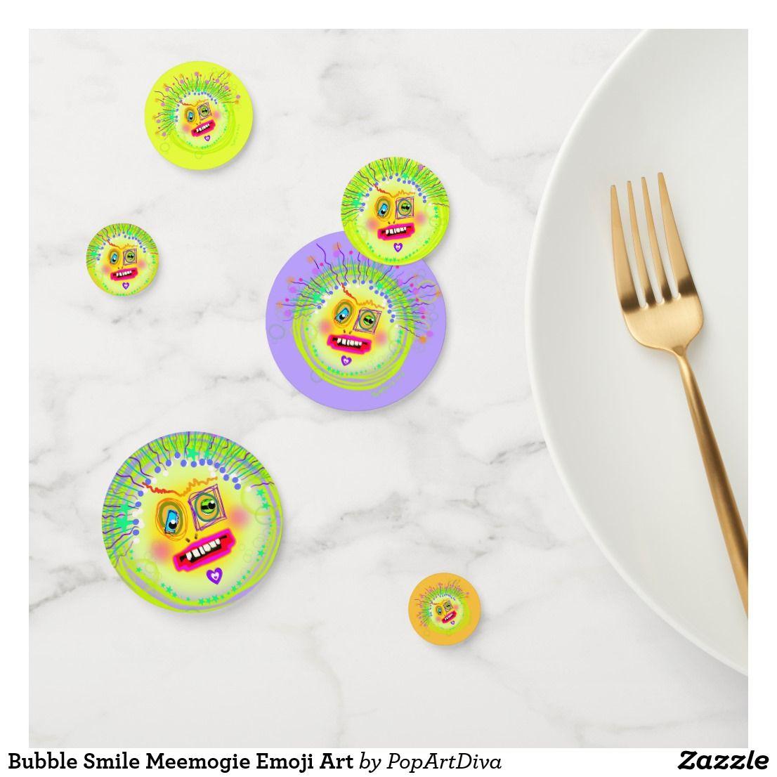 Bubble Smile Meemogie Emoji Art Confetti
