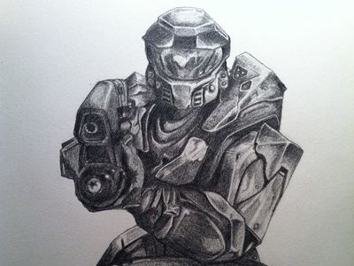 final halo sketch piece by zioneyemedia http www dribbble com zioneyemedia