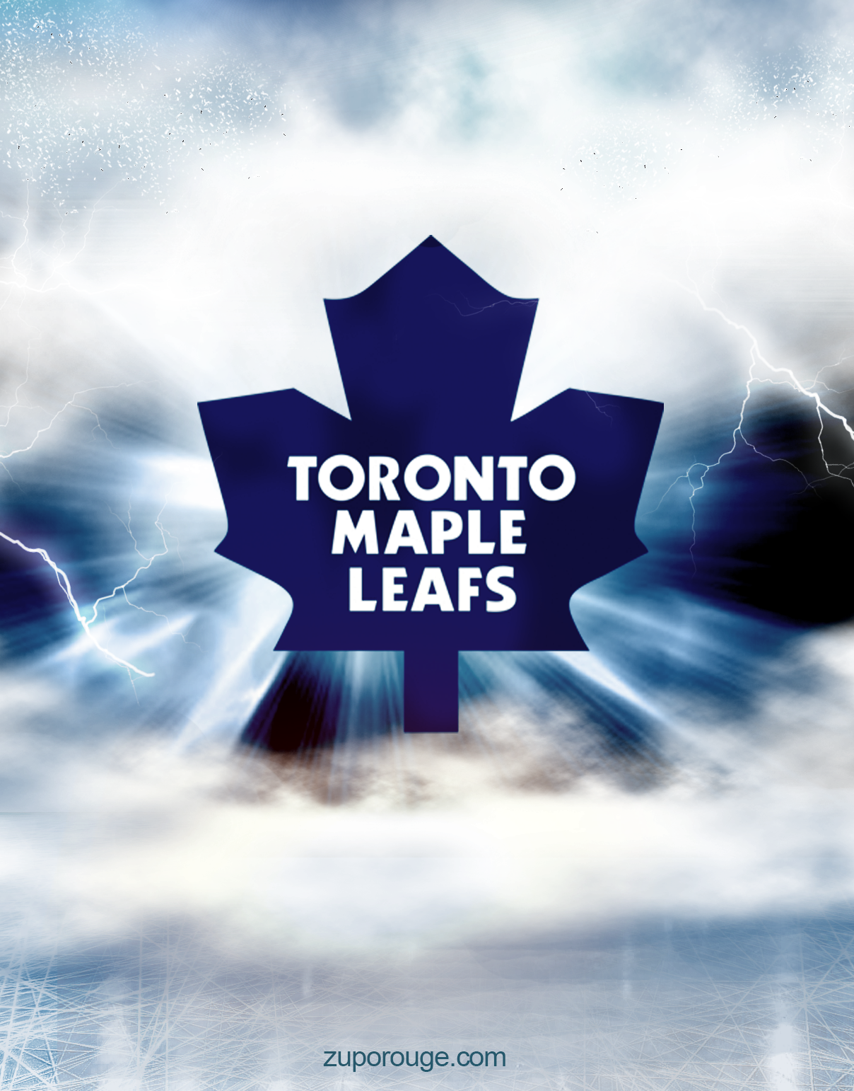 A maple leafs museum and man cave, all in one basement