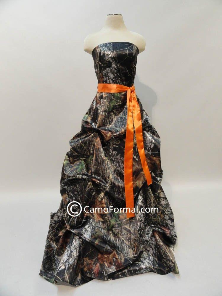 orange camo wedding dress | Mossy Oak New Breakup Attire Camouflage ...