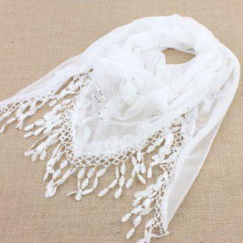 $5.95 Chic Water Drop Shape Tassel Pendant Rose Sequins Design Scarf For Women