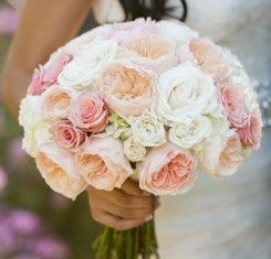 blush champagne and ivory bouquet with juliet garden roses the french bouquet amanda watson photography